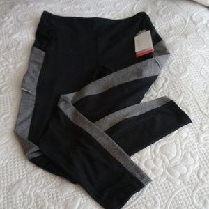 Black and Light Gray Marika NWT leggings.
